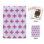 ROYAL1 WHITE MARBLE & PINK DENIM Playing Card Back