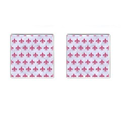 ROYAL1 WHITE MARBLE & PINK DENIM Cufflinks (Square)
