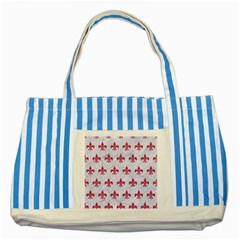 ROYAL1 WHITE MARBLE & PINK DENIM Striped Blue Tote Bag