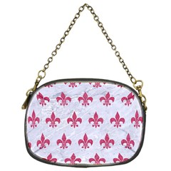 ROYAL1 WHITE MARBLE & PINK DENIM Chain Purses (One Side)