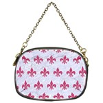 ROYAL1 WHITE MARBLE & PINK DENIM Chain Purses (One Side)  Front