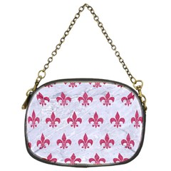 ROYAL1 WHITE MARBLE & PINK DENIM Chain Purses (Two Sides)