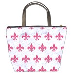 ROYAL1 WHITE MARBLE & PINK DENIM Bucket Bags Back