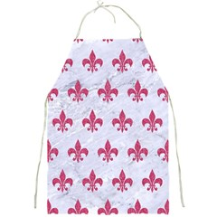 ROYAL1 WHITE MARBLE & PINK DENIM Full Print Aprons