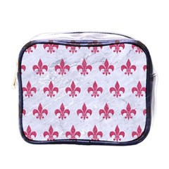 ROYAL1 WHITE MARBLE & PINK DENIM Mini Toiletries Bags