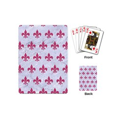 ROYAL1 WHITE MARBLE & PINK DENIM Playing Cards (Mini)
