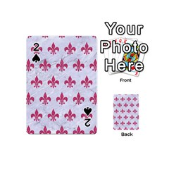 ROYAL1 WHITE MARBLE & PINK DENIM Playing Cards 54 (Mini)