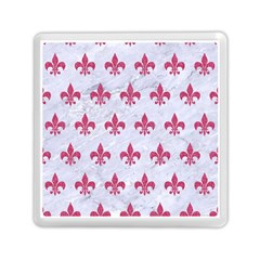 ROYAL1 WHITE MARBLE & PINK DENIM Memory Card Reader (Square)
