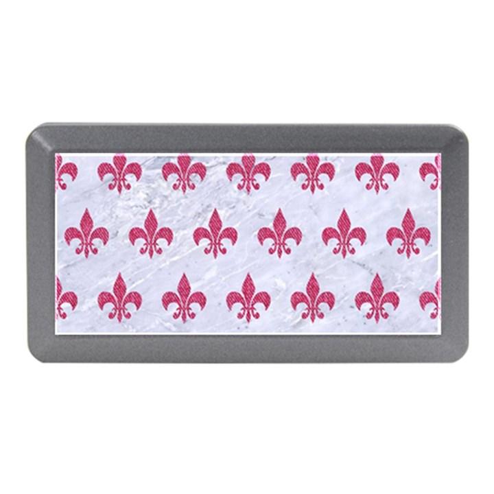 ROYAL1 WHITE MARBLE & PINK DENIM Memory Card Reader (Mini)
