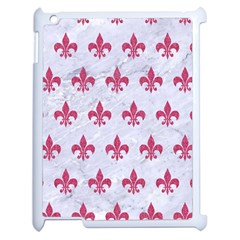 ROYAL1 WHITE MARBLE & PINK DENIM Apple iPad 2 Case (White)