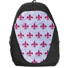 ROYAL1 WHITE MARBLE & PINK DENIM Backpack Bag
