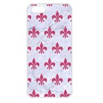 ROYAL1 WHITE MARBLE & PINK DENIM Apple iPhone 5 Seamless Case (White) Front