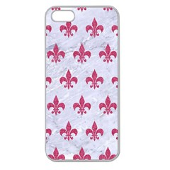 ROYAL1 WHITE MARBLE & PINK DENIM Apple Seamless iPhone 5 Case (Clear)