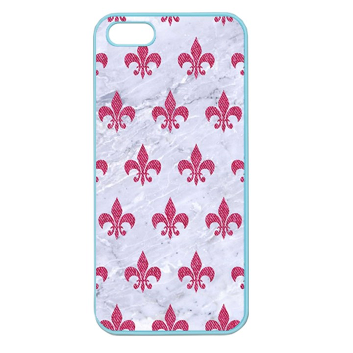 ROYAL1 WHITE MARBLE & PINK DENIM Apple Seamless iPhone 5 Case (Color)