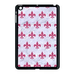 ROYAL1 WHITE MARBLE & PINK DENIM Apple iPad Mini Case (Black)