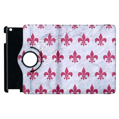 ROYAL1 WHITE MARBLE & PINK DENIM Apple iPad 3/4 Flip 360 Case