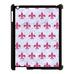 Royal1 White Marble & Pink Denim Apple Ipad 3/4 Case (black)