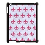 ROYAL1 WHITE MARBLE & PINK DENIM Apple iPad 3/4 Case (Black) Front
