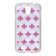 ROYAL1 WHITE MARBLE & PINK DENIM Samsung GALAXY S4 I9500/ I9505 Case (White)