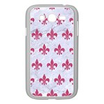 ROYAL1 WHITE MARBLE & PINK DENIM Samsung Galaxy Grand DUOS I9082 Case (White) Front