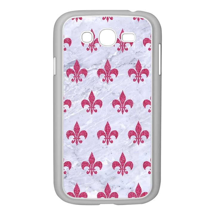 ROYAL1 WHITE MARBLE & PINK DENIM Samsung Galaxy Grand DUOS I9082 Case (White)