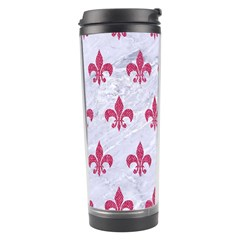 ROYAL1 WHITE MARBLE & PINK DENIM Travel Tumbler