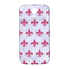 Royal1 White Marble & Pink Denim Samsung Galaxy S4 I9500/i9505  Hardshell Back Case by trendistuff