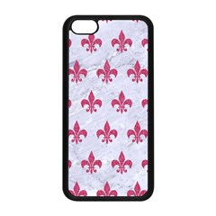 ROYAL1 WHITE MARBLE & PINK DENIM Apple iPhone 5C Seamless Case (Black)