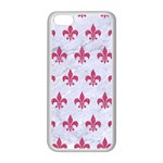 ROYAL1 WHITE MARBLE & PINK DENIM Apple iPhone 5C Seamless Case (White) Front