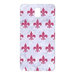 ROYAL1 WHITE MARBLE & PINK DENIM Samsung Galaxy Note 3 N9005 Hardshell Back Case Front