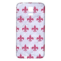 ROYAL1 WHITE MARBLE & PINK DENIM Samsung Galaxy S5 Back Case (White)