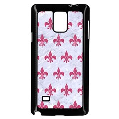 Royal1 White Marble & Pink Denim Samsung Galaxy Note 4 Case (black) by trendistuff