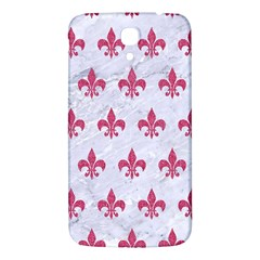 ROYAL1 WHITE MARBLE & PINK DENIM Samsung Galaxy Mega I9200 Hardshell Back Case