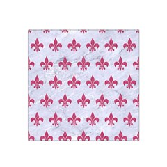 ROYAL1 WHITE MARBLE & PINK DENIM Satin Bandana Scarf