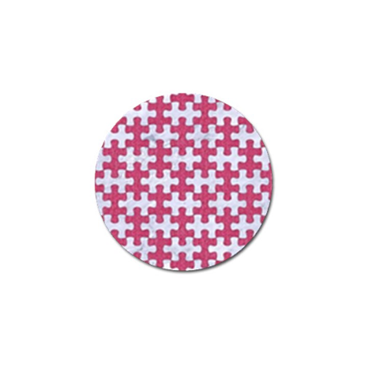 PUZZLE1 WHITE MARBLE & PINK DENIM Golf Ball Marker