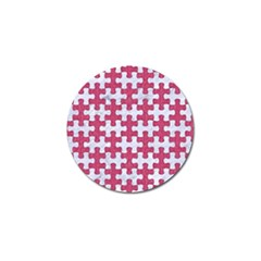 Puzzle1 White Marble & Pink Denim Golf Ball Marker (4 Pack)