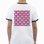 PUZZLE1 WHITE MARBLE & PINK DENIM Ringer T-Shirts Back