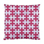 PUZZLE1 WHITE MARBLE & PINK DENIM Standard Cushion Case (Two Sides) Back