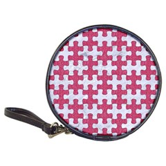 Puzzle1 White Marble & Pink Denim Classic 20 Cd Wallets