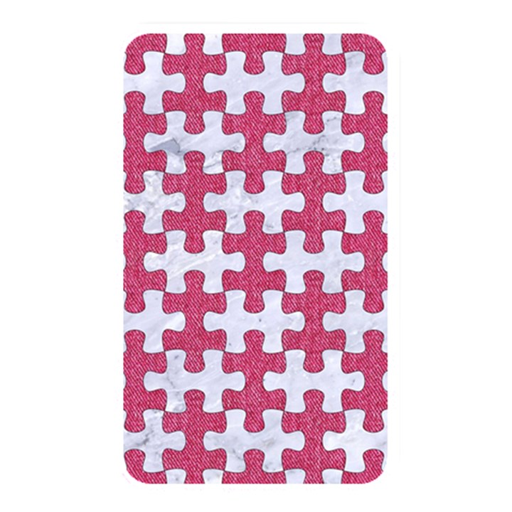 PUZZLE1 WHITE MARBLE & PINK DENIM Memory Card Reader