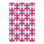 PUZZLE1 WHITE MARBLE & PINK DENIM Shower Curtain 48  x 72  (Small)  42.18 x64.8 Curtain