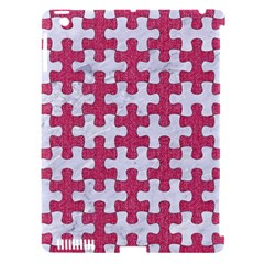 Puzzle1 White Marble & Pink Denim Apple Ipad 3/4 Hardshell Case (compatible With Smart Cover) by trendistuff