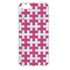 Puzzle1 White Marble & Pink Denim Apple Iphone 5 Seamless Case (white)