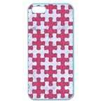 PUZZLE1 WHITE MARBLE & PINK DENIM Apple Seamless iPhone 5 Case (Color) Front