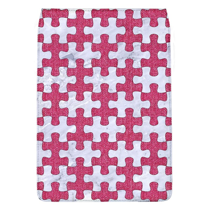 PUZZLE1 WHITE MARBLE & PINK DENIM Flap Covers (L)