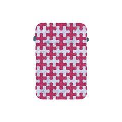 Puzzle1 White Marble & Pink Denim Apple Ipad Mini Protective Soft Cases