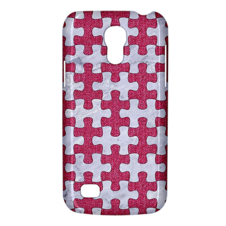 PUZZLE1 WHITE MARBLE & PINK DENIM Galaxy S4 Mini