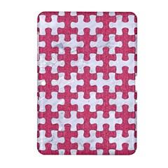 Puzzle1 White Marble & Pink Denim Samsung Galaxy Tab 2 (10 1 ) P5100 Hardshell Case