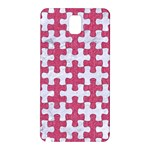 PUZZLE1 WHITE MARBLE & PINK DENIM Samsung Galaxy Note 3 N9005 Hardshell Back Case Front