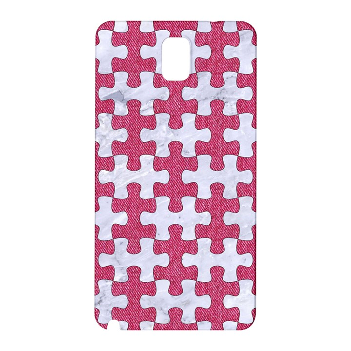 PUZZLE1 WHITE MARBLE & PINK DENIM Samsung Galaxy Note 3 N9005 Hardshell Back Case